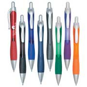 Ballpoint Pen With Contoured Rubber Grip