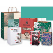 Color Kraft Paper Shopping Bags
