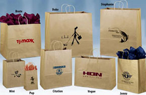 Classic Brown Kraft Paper Shoppers