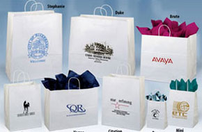 Classic White Kraft Paper Shoppers