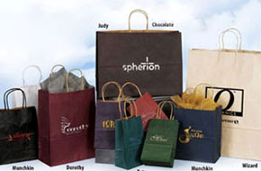 Colored Kraft Matte Shopping Bags