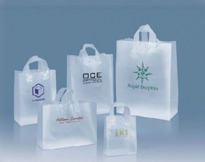 Frosted Plastic Shopping Bags