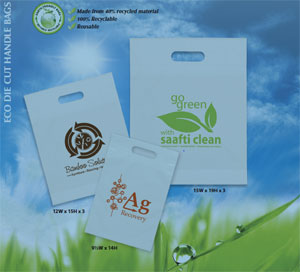 Eco Die Cut Plastic Shopping Bags