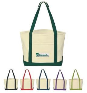 Custom Printed Cotton Canvas Boat Tote Bags