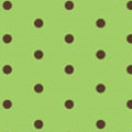 Brown Mini Dots on Green