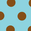 Dots, Brown on Blue