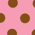 Dots, Brown on Pink