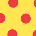 Dots, Red on Yellow